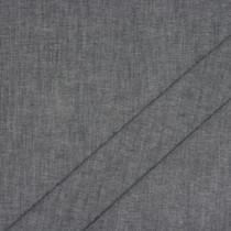 Dark Grey Cotton Chambray Fabric