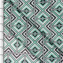 Mint Green Geometric Tribal Chiffon Print