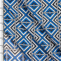 Royal Blue Geometric Tribal Chiffon Print