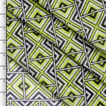 Bright Yellow Geometric Tribal Chiffon Print