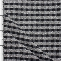 Black, White, and Grey Plaid Silk/Wool Boucle