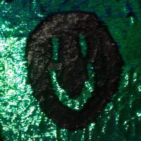 Matte Black and Iridescent Green 'Mermaid' Reversible Two Tone Sequin Fabric - You can draw in it!