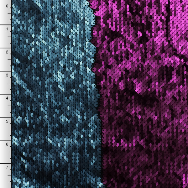 Purple and Midnight Blue Reversible Two Tone Sequin Fabric