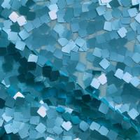 Turquoise Dangling Square Sequin Fabric