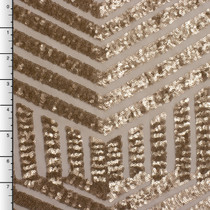 Gold Geometric Stretch Micro Sequin Fabric