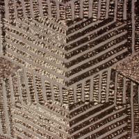 Brown Geometric Stretch Micro Sequin Fabric