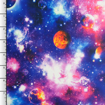 Vibrant Blue/Purple Galaxy Print Nylon/Lycra