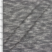 Grey Loose Slubbed Sweater Knit