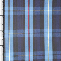 Blue Plaid Yarn Dyed Midweight Poly Poplin by Rober Kaufman