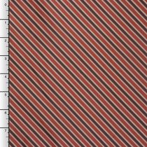 Red, Blue, and Tan Diagonal Stripe Poly Lining