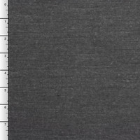 Dark Grey Heather & White Double-Sided Knit