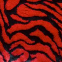 Red Tiger Faux Fur