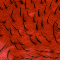 Red/Black Two-tone Spike Faux Fur