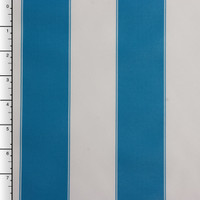 Blue and White Striped Outdoor Canvas
