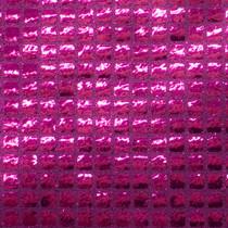 Fuschia Square Sequin Fabric