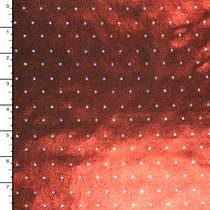 Silver Holographic Sequins on Red Metallic Stretch Knit