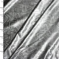 Silver on Silver Geometric Shapes Lycra Lame