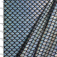Silver Holographic Scale 4-way Stretch Fabric