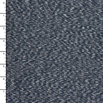 Denim Blue Heather With Patterned Imprint Heavy Nylon/Lycra