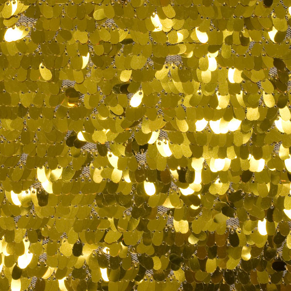 Gold Dangle Sequin Fabric