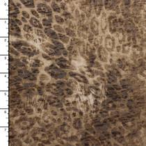 Tan Grunge Animal Print Burnout Jersey Knit