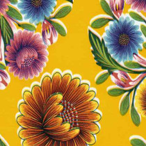 """Bloom"" Yellow Oilcloth"