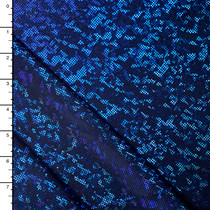 Royal Blue on Black Shattered Glass Nylon/Lycra