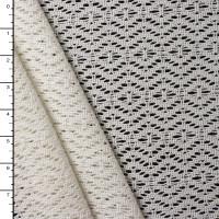 White Cotton Diamond Pattern Crochet Lace