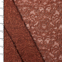 Bronze Metallic Reimbroidered Lace