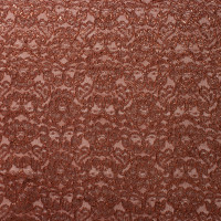 Bronze Metallic Reimbroidered Lace