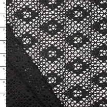 Black Diamond Pattern Cotton Netting