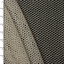 Ivory Fishnet with Silver Metallic Sparkles