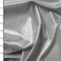 Silver 'Wet Look' Shiny 4-way Stretch Nylon/Lycra