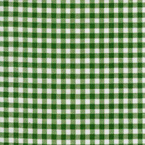 Gingham Plaid Bottle Green Oilcloth