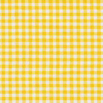 Gingham Plaid Yellow Oilcloth