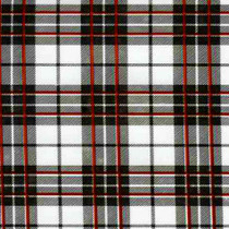 Glen Plaid White Oilcloth