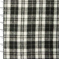 Black and White Tartan Plaid Flannel #15368