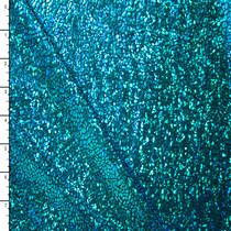 Cracked Pattern Turquoise on Black Holographic Metallic 4-way Stretch Spandex
