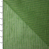 Green Plaid Lightweight Linen