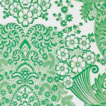 """""""Paradise Lace"""" Green Oilcloth"""
