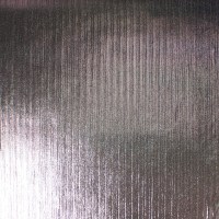 Gunmetal on Black Lined 4-way Stretch Metallic