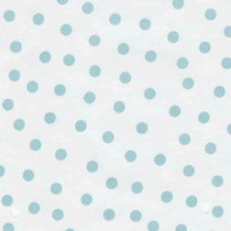 """Polka Dot"" Baby Blue on White Oilcloth"