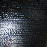 Black Zig-Zag Crushed Pattern Lycra Lame