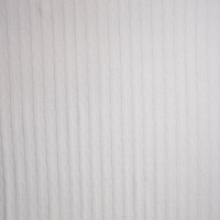 White Striped Midweight Cotton Sweater Knit