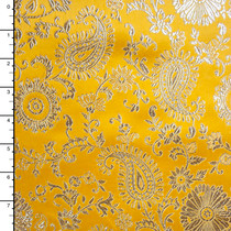 Yellow and Gold Paisley Designer Brocade