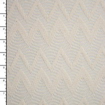 Ivory Chevron Pattern Cotton Lace