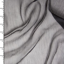 Black Crinkle Silk Chiffon