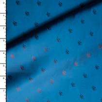 Iridescent Blue Crowns Designer Lining