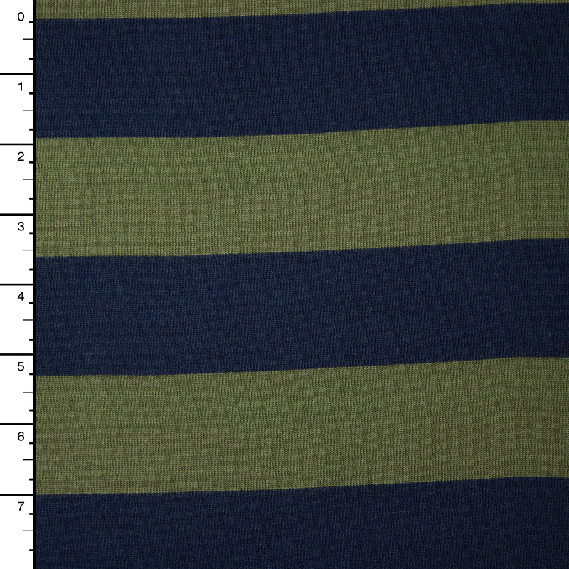 Navy and Olive Heavyweight Cotton Jersey