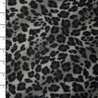 Grey Cheetah Midweight Print Sweater Knit